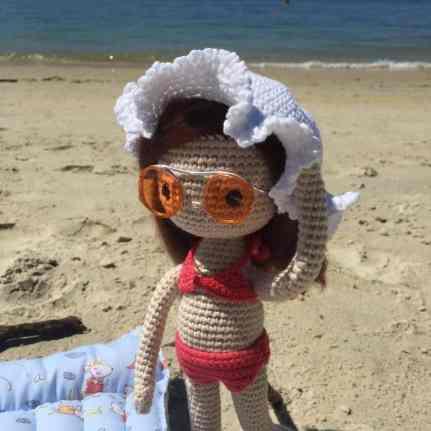 amigurumi crochet Primer plano