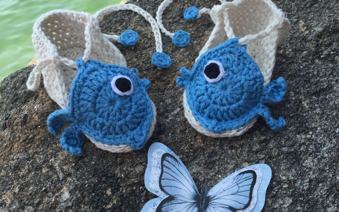 Crochet summer bootees – #3Retocrochetero.