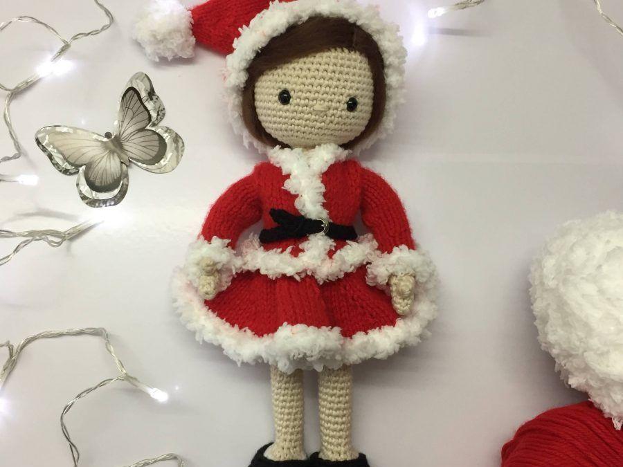 Amigurumi para navidad, Mi muñeca Lau vestida de Mama Noel