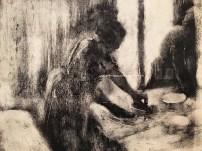 "detail from ""Ironing Women (Les Repasseurs)"" c. 1877-79"
