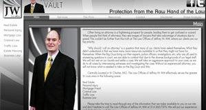 A screenshot of  former attorney Jeffrey Witt's website, http://www.jmwitt.com, before it went offline.