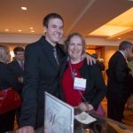Women's Justice Award honoree Sarah Brown and her son. Brown  was honored for her work as a litigation practitioner.