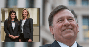 LEFT:Attorney Kristine Kraft, on right, and associate Ashley Brittain-Landers, of Schlichter, Bogard & Denton.  RIGHT: Special master Daniel Stack, a retired Illinois judge, winnowed down more than $40 million in attorneys' fee requests to fit an available $11 million pool.  KAREN ELSHOUT/PHOTO