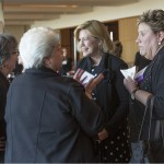 Sherrill Rosen, Edith Messina, Elaine Koch and Mary Kay O'Malley chat at the 2015 Women's Justice Awards banquet held at the Four Seasons in St. Louis, MO.