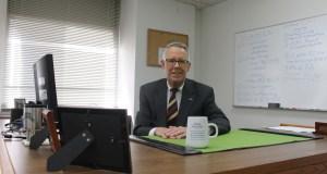 Richard Scherrer in his new St. Louis Public Defender's office. Photo by Allyssa D. Dudley