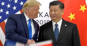 U.S. President Donald Trump, left, shakes hands with Chinese President Xi Jinping during a meeting on the sidelines of the G-20 summit in Osaka, western Japan. Facing another U.S. tariff hike, Xi is getting tougher with Washington instead of backing down. Both sides have incentives to settle a trade war that is battering exporters on either side of the Pacific and threatening to tip the global economy into recession. AP Photo by Susan Walsh