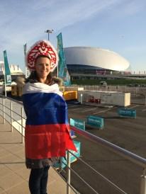 "Russian flag and ""kokoshnik"" on my head"