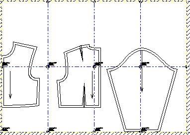 Ejemplo: Mapa de hojas tamaño A4 para armarlas y formar los moldes completos en tamaño real y exacto de corpino niños en la talla 4.