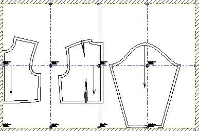 Ejemplo: Mapa de hojas tamaño Carta para armarlas y formar los moldes completos en tamaño real y exacto de corpino niños en la talla 4.
