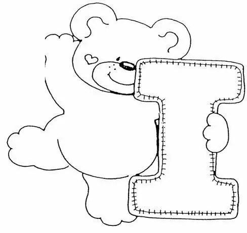 Ursinhos Para Colorir Com Letras Desenho De Letra L Com