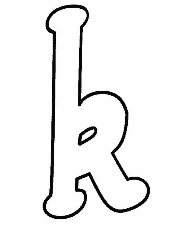 Free coloring pages of graffiti letra k