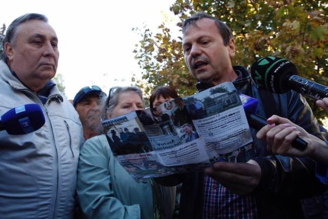 Vasile Năstase cere PG identificarea autorilor pliantelor denigratoare Sursa foto: Vladislav Culiomza/Privesc.eu