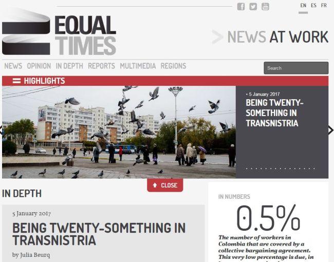 Equal Times, despre tinerii din Transnistria FOTO captură equaltimes.org