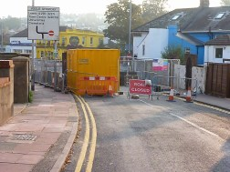 One of Brighton's main routes closed, I bet the mornings are fun here