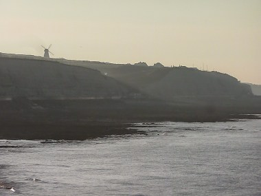 Rottingdean in the distance, early morning haze