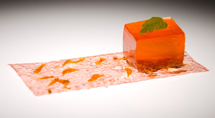 Aperol Paper And Gel Cocktail