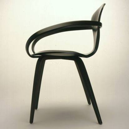 Norman Cherner, hand crafted walnut armchair