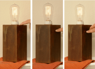 Touch-Sensitive Steel Lamps