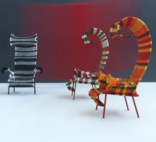 Moroso's Shadowy Sun Lounger by Dutch designer Tord Boontje