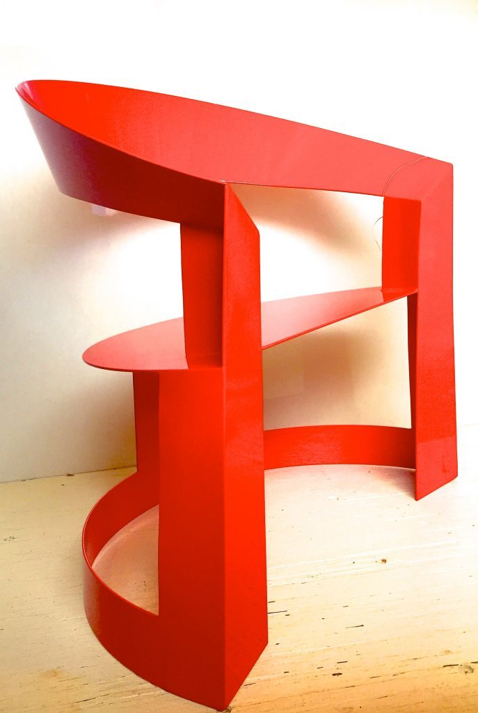 Dick Podmore Scarlett O'Hara Chair in Ferrari Red
