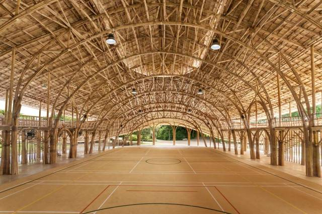 Panyaden Bamboo Sports Hall, great use of bamboo.