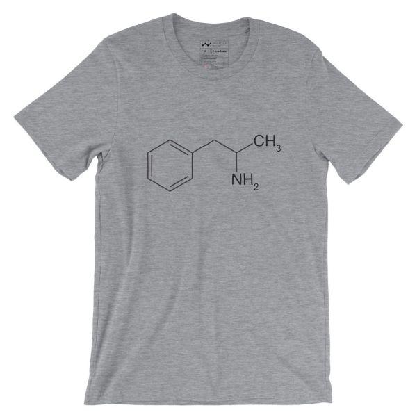 Amphetamine Molecule T-Shirt Athletic Heather