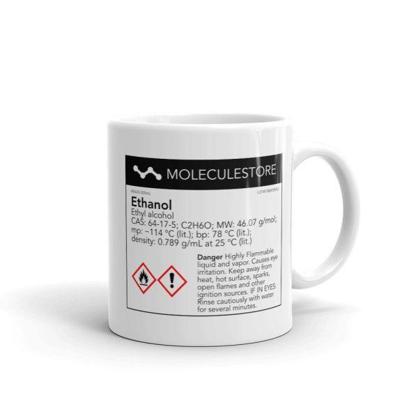 Ethanol Intoxicated White Mug 11oz Handle on Right