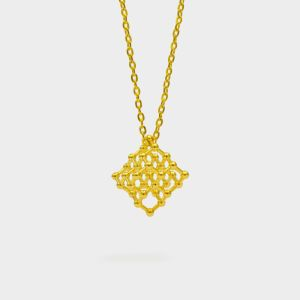Diamond Molecule Necklace 3D Gold