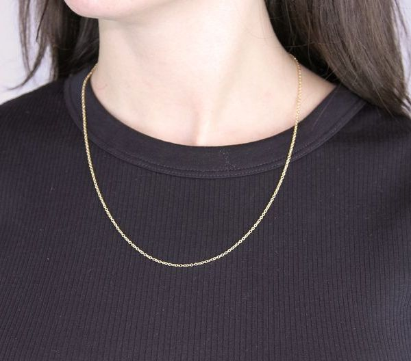 Yellow Gold-Filled Cable Chain 20in / 50.8cm