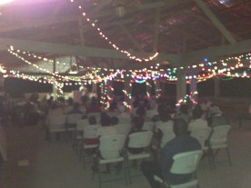 This was at the very beginning of last night's revival.