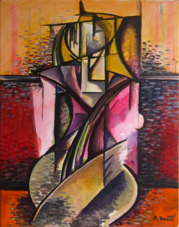 Abstract Painting Cubism Art