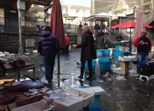 Careful walk thru Catania fishmarket