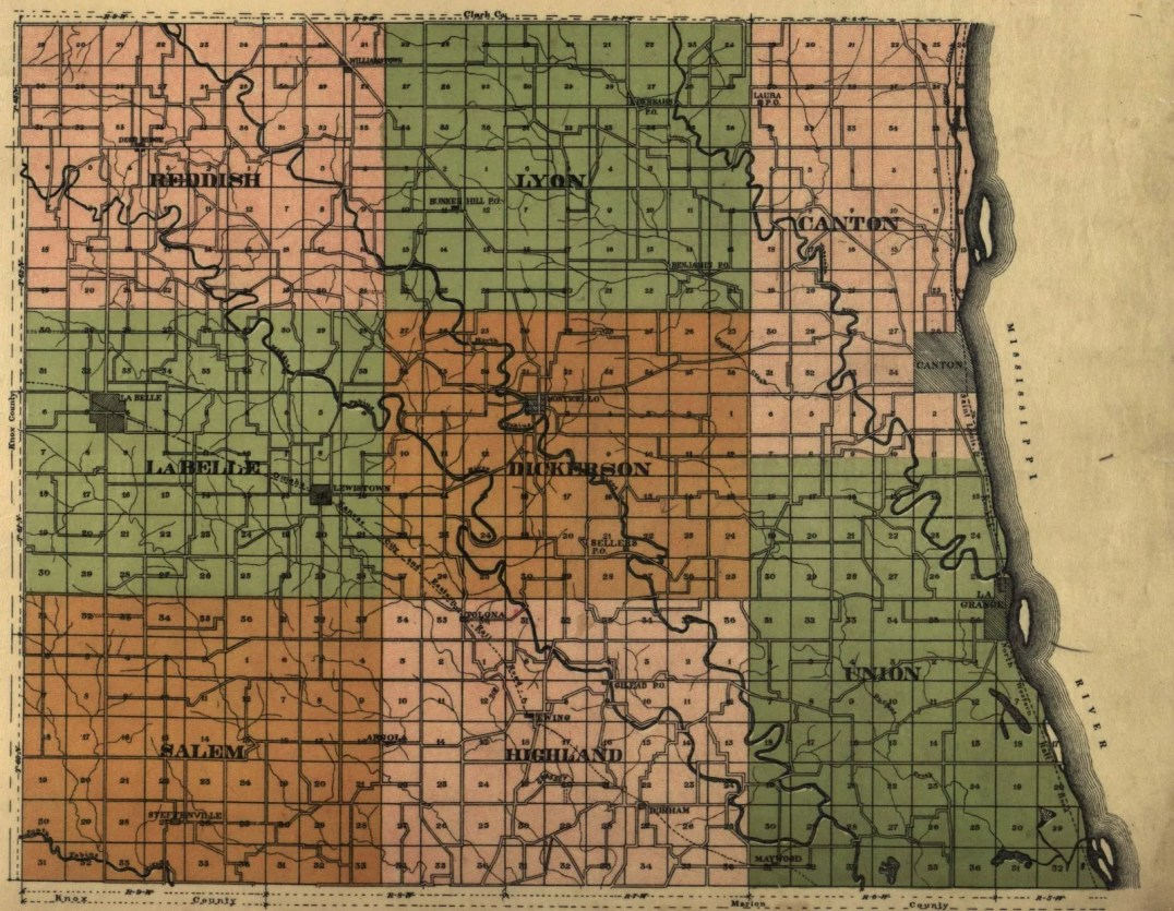 1897 Map of Lewis County Missouri