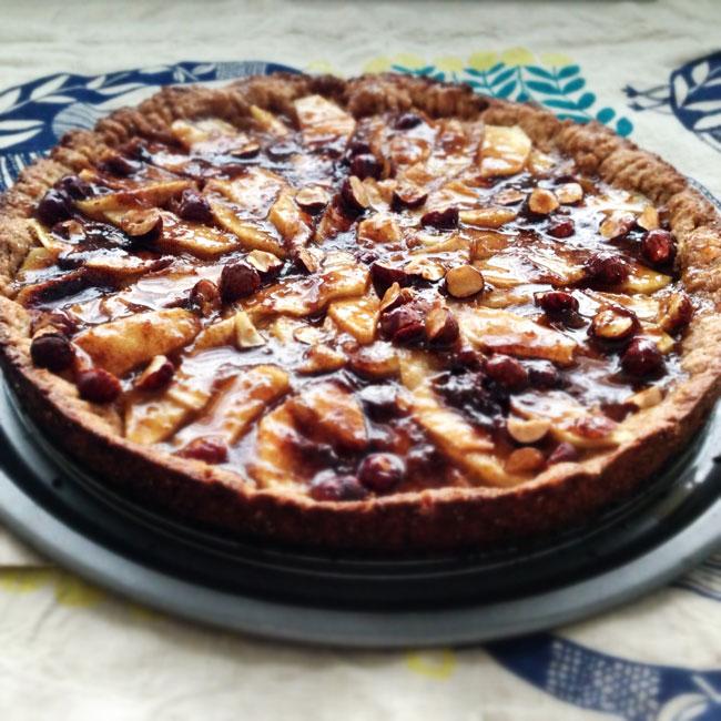 Tarta de Manzana y Avellanas