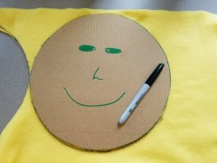 We used Bob the template. This template is about 10 inches in diameter.