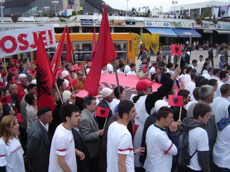 Nga protesta e lëvizjes Vetëvendosje më datën 9 maj 2008