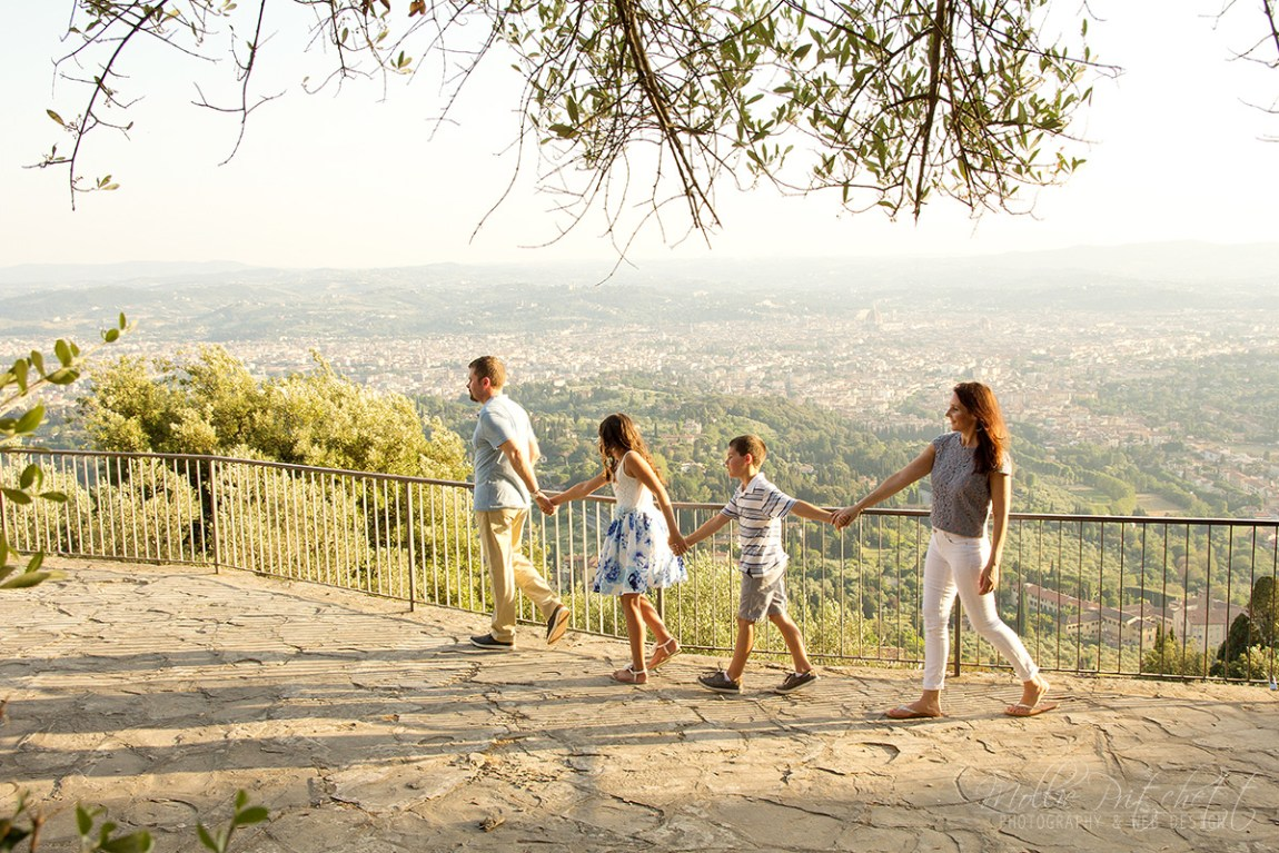 Family Photoshoot in Fiesole, Italy