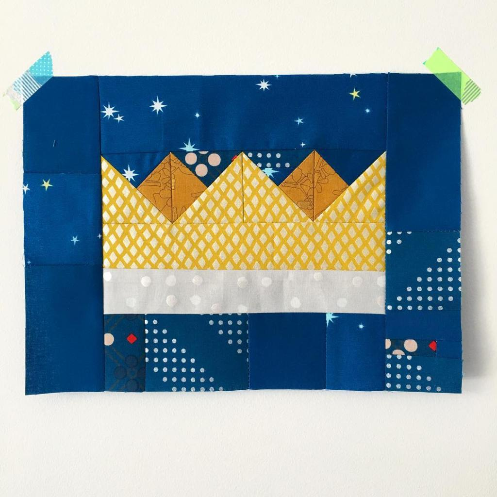 A furtrimmed crown on a starry winter night sewroyalblock thehoneypotbeehellip