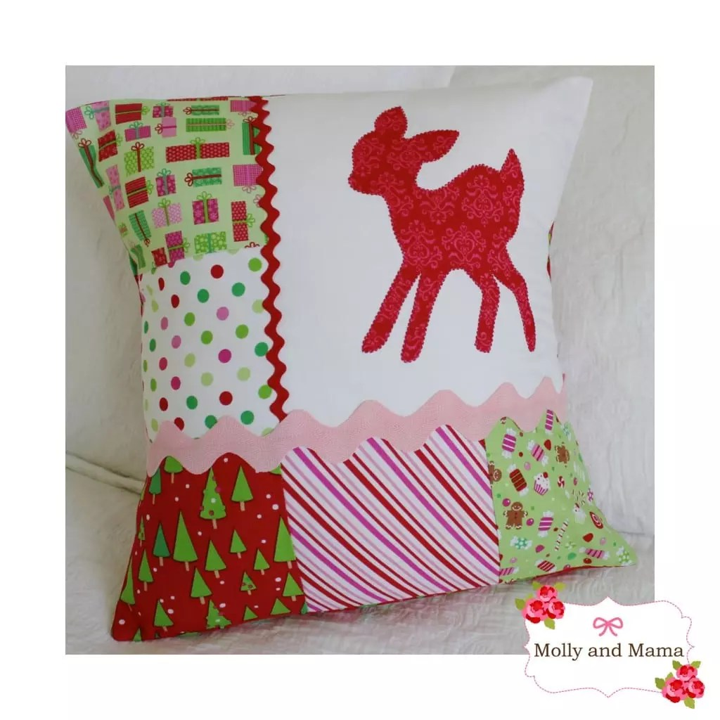 Scrappy Christmas Cushion.jpg