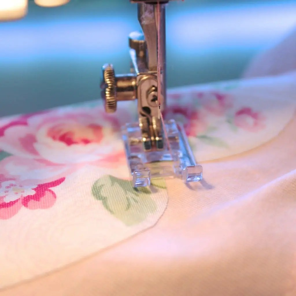 Begin stitching in the 'bend'