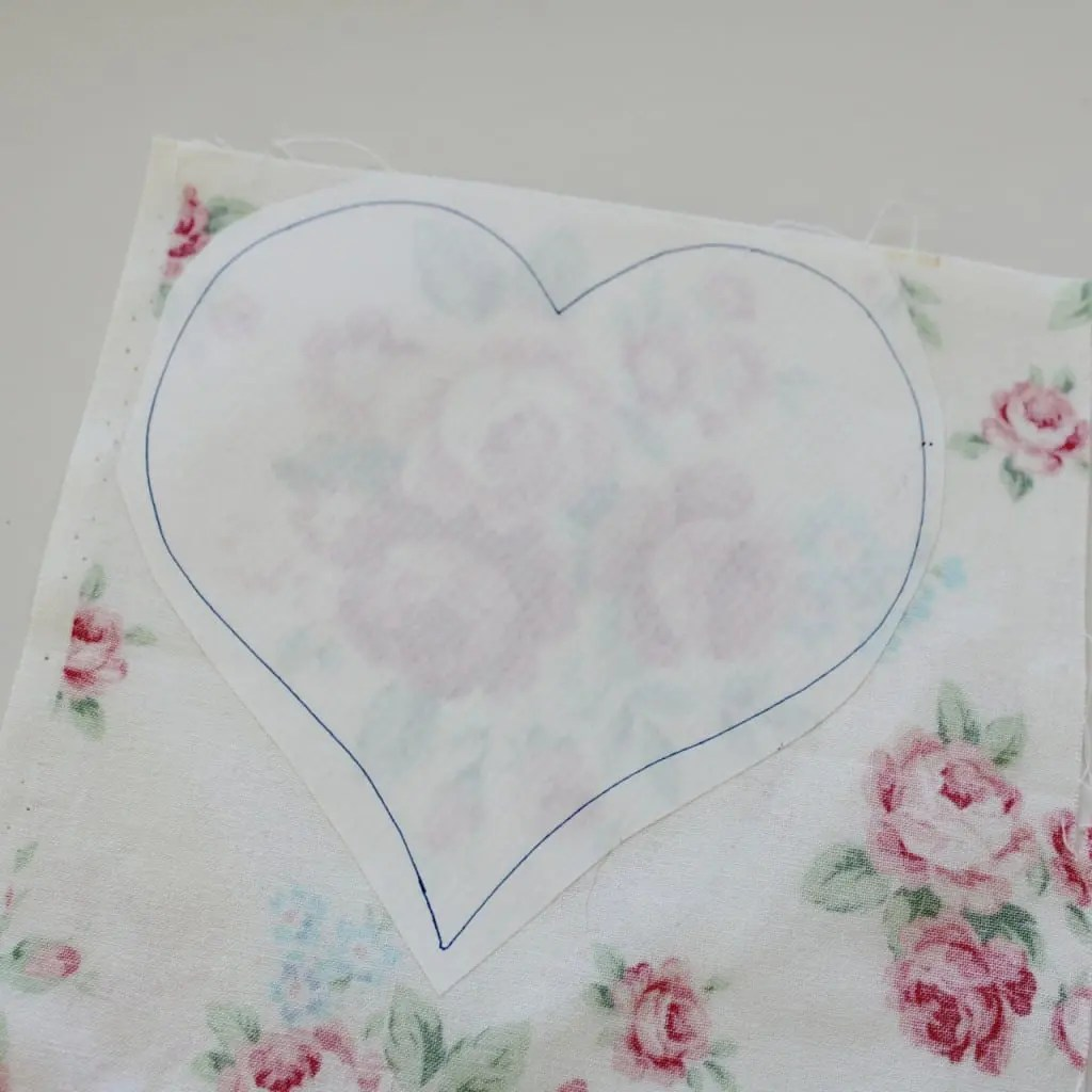Iron your template to your fabric