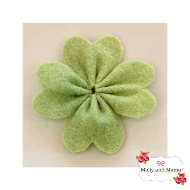 Felt Four Leaf Clover by Molly and Mama