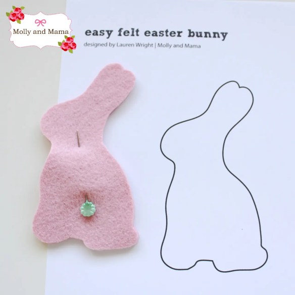 Easy Felt Bunny Tutorial by Molly and Mama 3