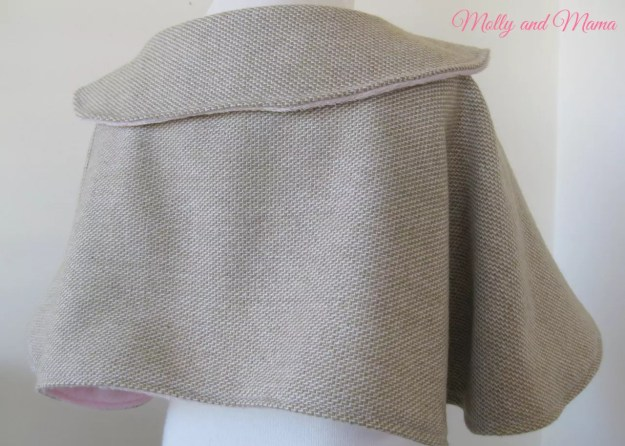 Draping of the Wool Cape - Molly and Mama