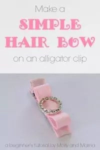 Make a Simple Hair Bow on an Alligator Clip - a beginner's tutorial by Molly and Mama