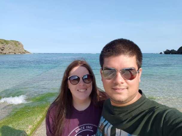 photo of Tara and Erwin on Miyagi Island