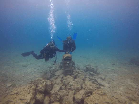 scuba diving at the Sunabe Seawall