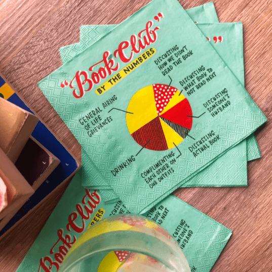 photo of Book Club cocktail napkins
