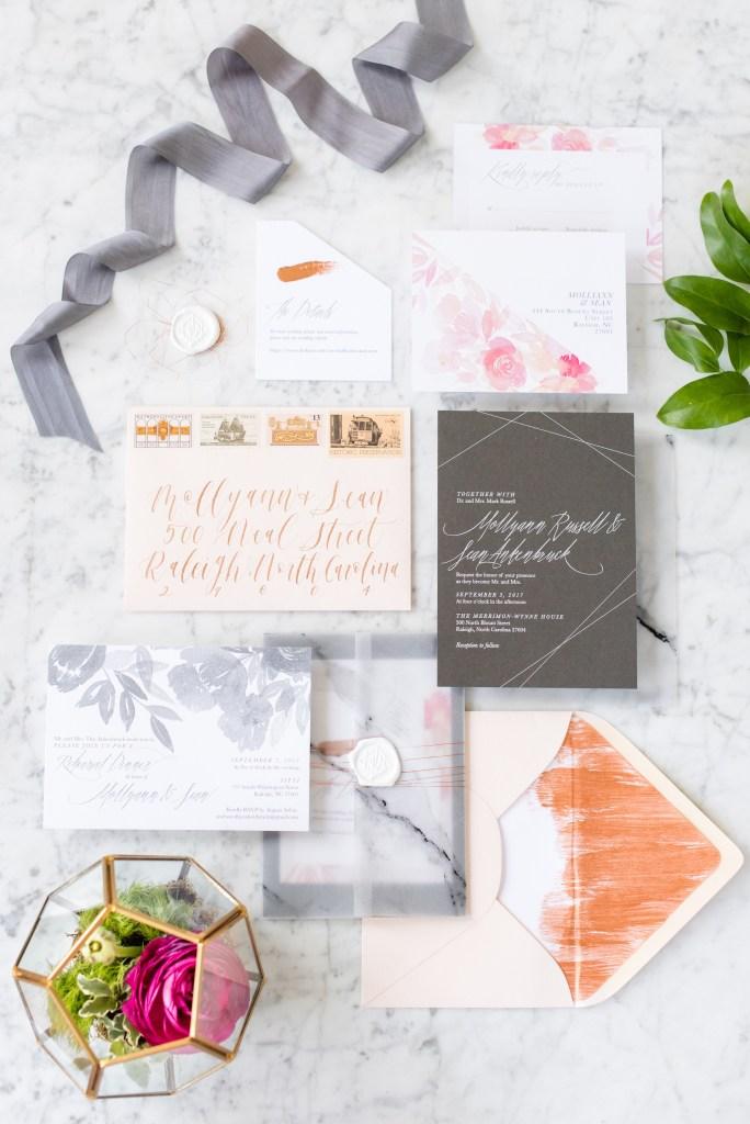 photo of wedding invitation suite
