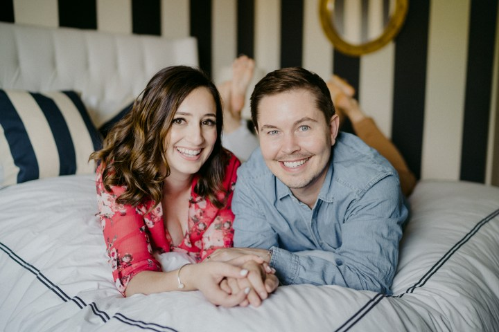photo of couple on the bed